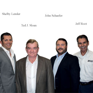 Shelby Lemler, Corporate Director of Service, Ted J. Sloan, President, John Schaefer, COO and Jeff Root, Vice President, Merry X-Ray